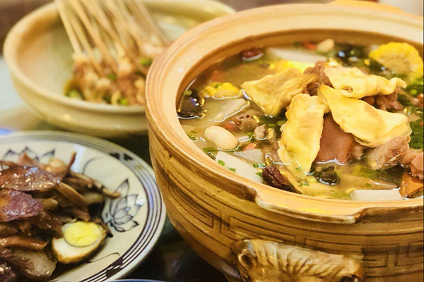 food dish in asia