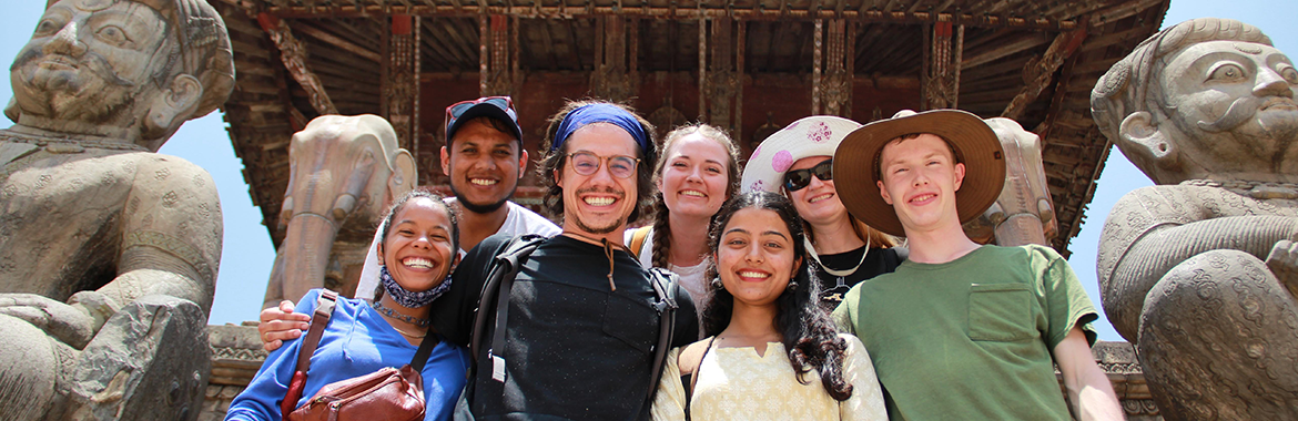 ASU students on their study abroad in Nepal